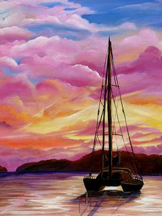New FEATURED in MAKE MINE PINK Group on FAA! Fine Art Oils on Canvas by Karin Best - SHEPARDS DELIGHT #fineartprints #makeminepink #oilpaintings