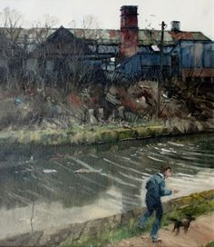 Canalside Jogger by British Contemporary Artist John LINES