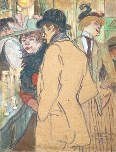 Alfred la Guigne / Henri de Toulouse-Lautrec / 1894 / NGA