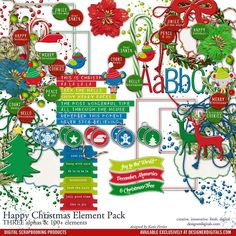 Happy+Christmas+Element+Pack
