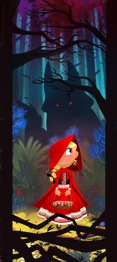 "elgunto: ""Little red riding hood… Not completely satisfied by this one but hey… sometime, you just have to stop working on things and move on to something else… """