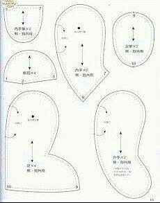 Peti peta teddy bear pattern