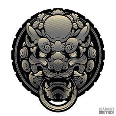 JAPANESE PATCH DESIGN on Behance Japanese Drawings, Japanese Tattoo Art, Japanese Art, Mosaic Tattoo, Japan Tattoo Design, Geometric Nature, Pop Art Wallpaper, Japan Painting, Asian Tattoos