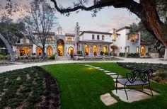 Montecito Residence 2 - mediterranean - Exterior - Santa Barbara - Lindsey Adams Construction Inc.. THE GRASS AND PAVERS