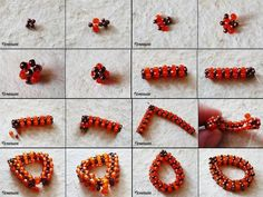 * Teardrop on CRAW (Cubic Right Angle Weave)