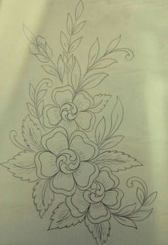 Basic Embroidery Stitches, Embroidery Suits Design, Embroidery Flowers Pattern, Hand Embroidery Designs, Ribbon Embroidery, Floral Embroidery, Fabric Paint Designs, Hand Work Blouse Design, Wreath Drawing