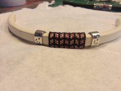 bracelet regaliz et tissage peyote