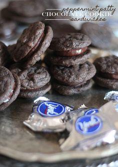 Peppermint  Patty Sandwich Cookies