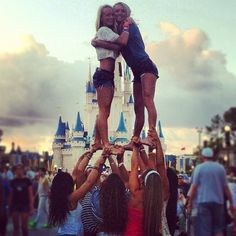 My goal! Cheer in high school and make it to nationals and stunt in front of the Disney castle!!