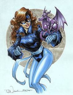 toddnauck:  Kitty Pryde & Lockheed, X-Men/Excalibur, on Recollections 8.5x11 light blue acid-free paper.