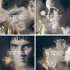 Dean Winchester, Eleven, Merlin and Sherlock.