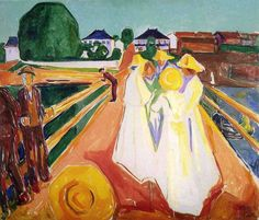 Women on the Bridge, Edvard Munch Medium: oil on canvas