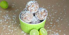 Nepečené ořechové kuličky s jemnou chutí limetky