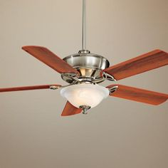 "52"" Minka Aire Bolo Brushed Nickel Swirl Light Ceiling Fan -"