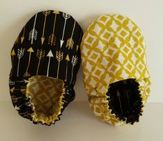 Arrows/black and gold reversible baby booties  Etsy page: https://www.etsy.com/shop/ItsyBitsyBooties?ref=search_shop_redirect