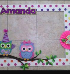 Cuadro para franchu Foam Crafts, Preschool Crafts, Diy And Crafts, Owl Party Decorations, Baby Shower Decorations, Baby Shower Themes, Baby Shower Gifts, Owl Birthday Parties, Merian