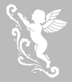 Pochoir Adhésif Repositionnable 9 x 8 cm ANGE & ARABESQUES NEW Stencil Stickers, Letter Stencils, Stencil Templates, Stencil Patterns, Stencil Designs, Drawing Stencils, Stencil Painting, Silhouette Portrait, Silhouette Art