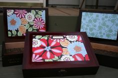 Cigar boxes, I made a couple of my own, they make great gifts...