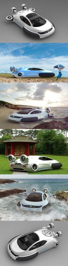 O Chinês Yuhan Zhang, criou um conceito futurista de um veículo híbrido para a Volkswagen, o Aqua!!