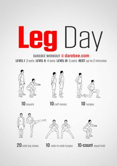 Leg Workouts For Men, Chest Workout For Men, Leg Workout At Home, Workouts For Teens, Gym Workouts, Darbee Workout, Bodyweight Workout Routine, Workout Routine For Men, Workout Exercises