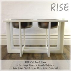 Rise Dog Bowl Stand