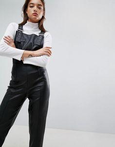 Kuvahaun tulos haulle leather look dungarees asos Dungarees, Overalls, Asos, Women's Fashion, Leather, Fashion Women, Bib Overalls, Womens Fashion
