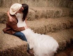 Breanne & Cole's cowboy wedding. One of our favorites.  This was a fun couple and a beautiful day.  Photography by Tia & Claire Studio.