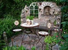 Garden design with walls-Gartengestaltung mit Mauern Ruin in the garden, wall, . - Garden design with walls-Gartengestaltung mit Mauern Ruin in the garden, wall, fence – -