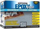 Rust-Oleum, Epoxy Shield Basement Gray Floor Coating Kit, 203843 at The Home Depot - Tablet Epoxy Basement Floor Paint, Concrete Basement Floors, Painting Basement Floors, Basement Flooring Options, Floor Stain, Basement Laundry, Patio Flooring, Basement Walls, Epoxy Floor