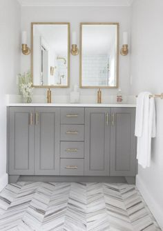 "Interior designer Erin Gates, who pens the popular design blog, ""Elements of Style,"" didn't let the small size of her Newton master bath deter her from making it fabulous."