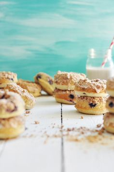 Baked Blueberry Crumb Doughnuts - The Candid Appetite