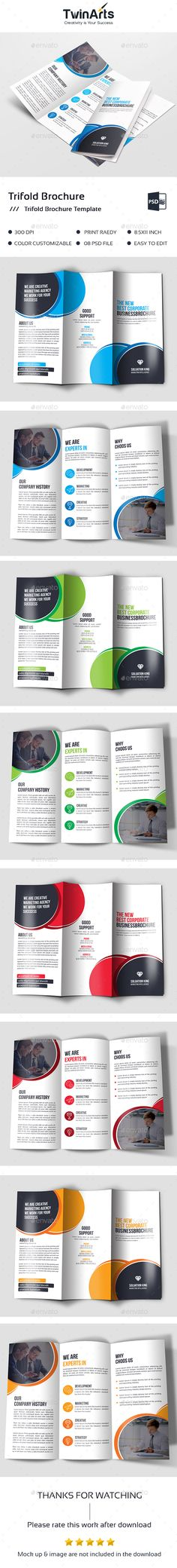 #Corporate #Trifold - #Brochures Print Templates Download here: https://graphicriver.net/item/corporate-trifold/20332730?ref=alena994