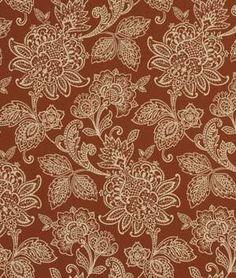 Robert Allen Garran Gardens Rhubarb Fabric - $37.95 | onlinefabricstore.net