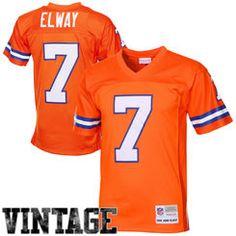 Mens Denver Broncos John Elway Mitchell   Ness Orange 1990 Retired Player  Vintage Replica Jersey 394e6b3ec