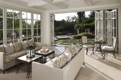 Pretty Antique Bifold Doors Image Gallery in Sunroom Traditional design ideas with Pretty bi-fold doors coffee table coffered ceiling decorative pillows folding doors french doors Home Design, Design Ideas, Design Inspiration, Living Room Designs, Living Room Decor, Dining Room, Accordion Doors, Sunroom Decorating, Decorating Ideas