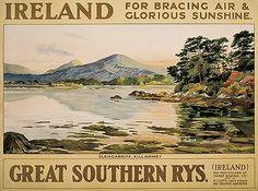 WALTER TILL IRELAND / GREAT SOUTHERN RYS. Circa 1920.