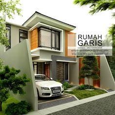 Rumah Garis: Desain Rumah Tinggal 2 lantai di Makassar