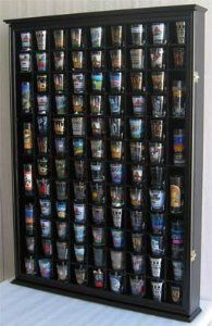 Amazon.com: 100 Shot Glass Display Case Holder Shadow Box Wall Cabinet