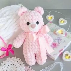 Free pattern for Crochet bears amigurumiLittle bears amigurumi is a plush crochet toy. Free amigurumi pattern by Julia Deinega.Amigurumi Soft Bär Gratis Muster Source by ayeyldrArms (make R 2 ch, 6 sc in second ch from hook R sc, inc)× 3 R 9 sc rowSelec Crochet Animal Amigurumi, Crochet Baby Toys, Crochet Bear, Baby Knitting, Free Crochet, Amigurumi Doll, Crochet Teddy Bear Pattern Free, Crochet Animals, Crochet Dolls Free Patterns