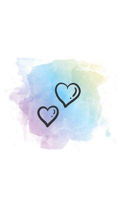 Corazones acuarela fondo Emoji Wallpaper, Heart Wallpaper, Cute Wallpaper Backgrounds, Tumblr Wallpaper, Wallpaper Quotes, Phone Backgrounds, Insta Pictures, Bff Pictures, Corazon Logo