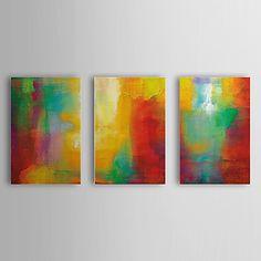 Hand geschilderd olieverfschilderij Abstract met gestrekte frame Set van 3 1308-AB0749 – EUR € 85.95