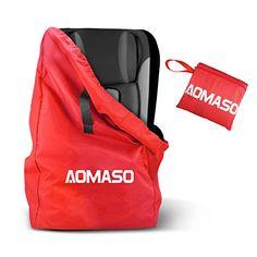 Aomaso Sac à dos de Voyage Résistent à l'eau et la poussière pour Siège Auto pour enfant – Rouge