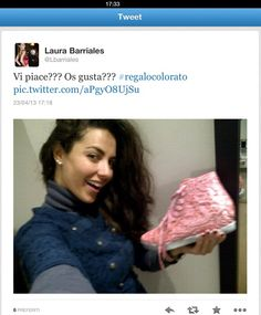 Laura Barriales with Colors of California sneakers