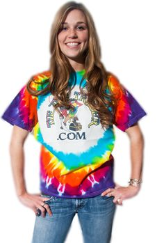 unisex hippy t shirt tye dye christmas bright clothes spider spiral girl short sleeve gift tee back to school boy rainbow 3t