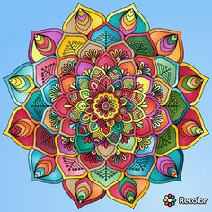 Mandalas para relajarse Mandalas Painting, Mandalas Drawing, Dot Painting, Stone Painting, Design Tattoo, Mandala Tattoo Design, Coloring Books, Coloring Pages, Yoga Art