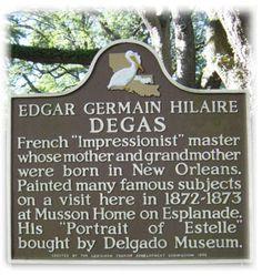 Edgar Degas House New Orleans