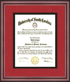 University of South Carolina Diploma Frame - Talking Walls South Carolina Schools, University Of South Carolina, University Certificate, Diploma Frame, Alma Mater, School Colors, Appreciation, Graduation, Frames
