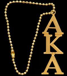 Alpha Kappa Alpha Mirror Drops - Gold
