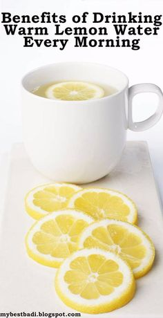 A squeeze of lemon into warm water every morning has more lasting effects than one might think...        Cleanses the system:  juice from f...