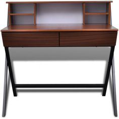 Only US$109.98, Brown Brown Workstation Computer Desk With 2 Drawers  .